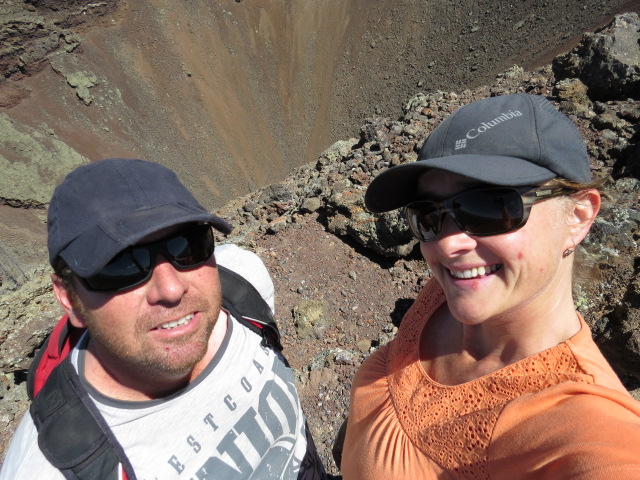 Selfie at the volcano