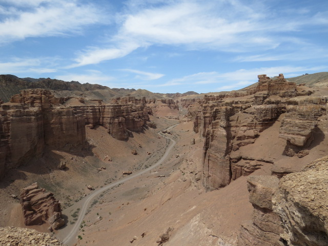 Road at bottom of Canyon