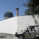 Parked behind Gur e Amir