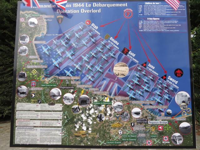 D-Day Landings Map