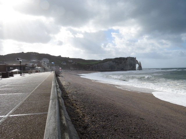 Windswept Coastline at Etretat