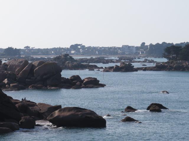 Huge granite boulders dot the coastline