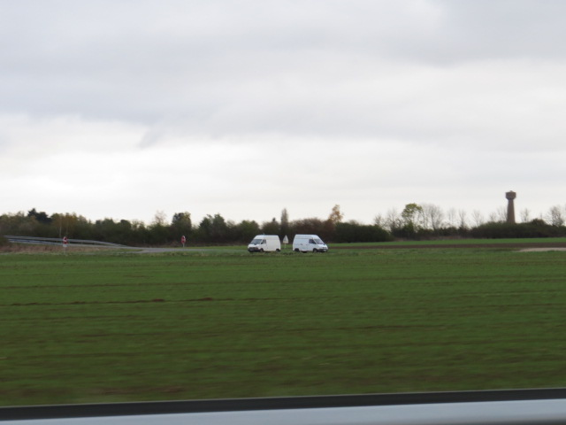 White vans just off the motorway are prostitutes waiting for customers!!