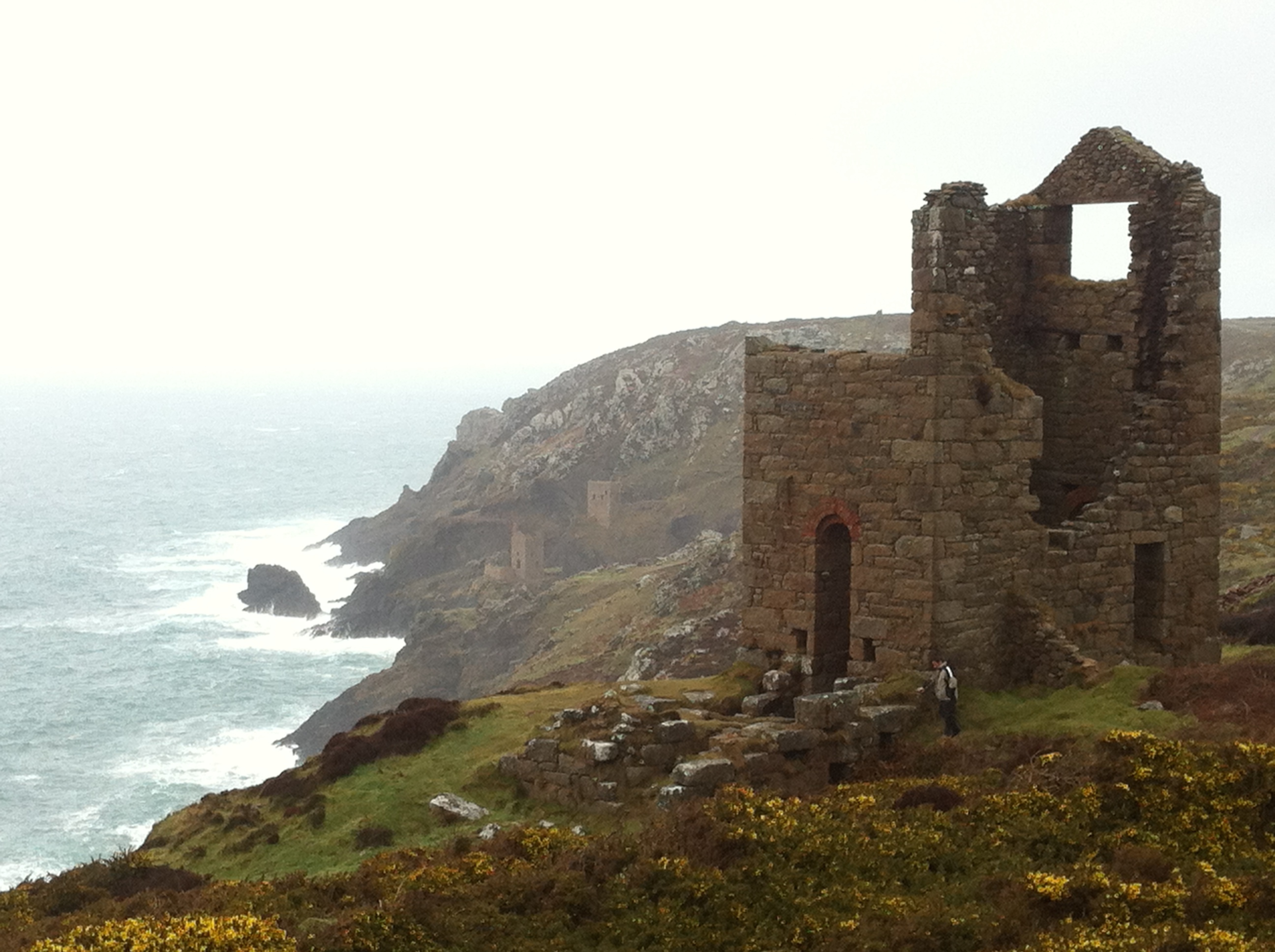 Remnants of Cornwall's Tin and Copper Mining Days at Botallack