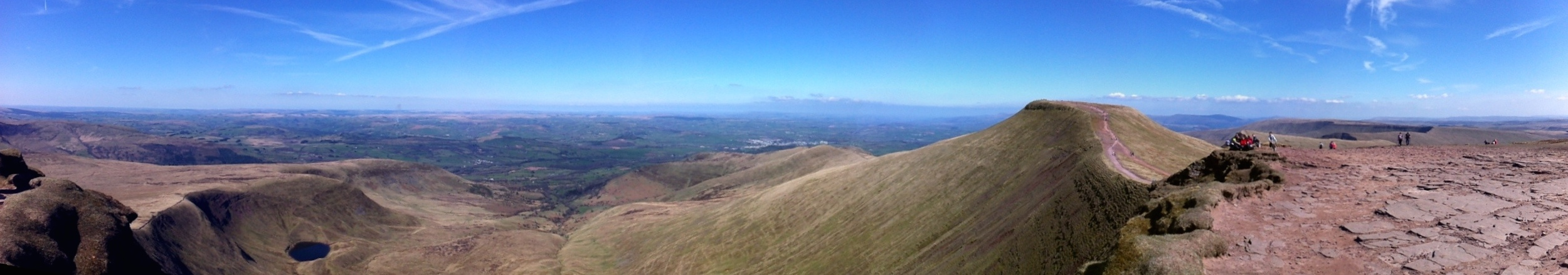 Panorama of the Welsh Landscape