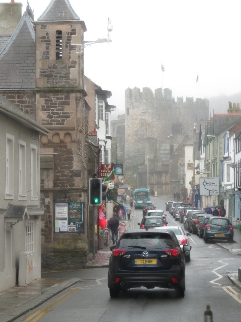 Driving through Conwy