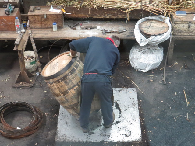 Refurbishing Bourbon Barrels for Whisky Production
