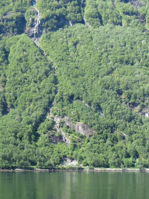 That's our quarry spot at the base of the hill right on the Geiranger Fjord