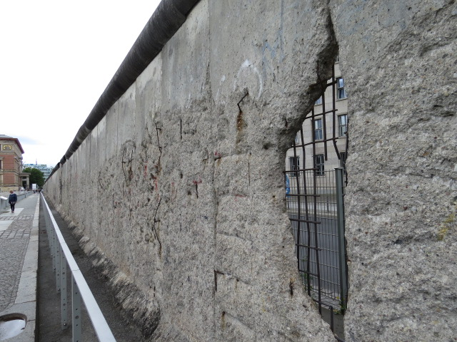 East Berlin side of the Wall