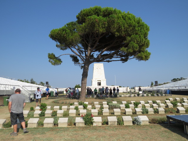 Getting ready for the 100yr Remembrance at Lone Pine Memorial