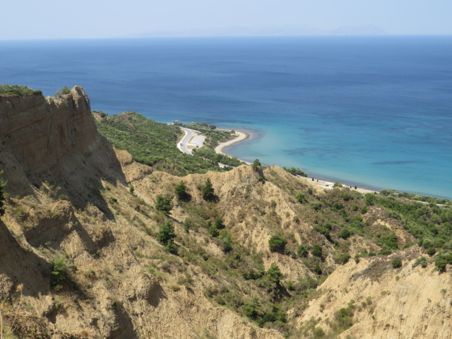 Terrain above Anzac Cove and North Beach