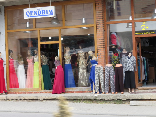 Not sure where all the ball gowns are being used but there were certainly a lot of shops selling them!