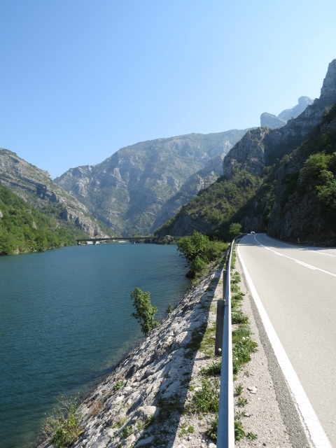 The drive between Mostar and Sarajevo