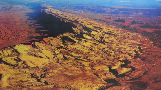 Aerial Photo of Comb Ridge courtesy of a San Juan Chamber of Commerce Publication