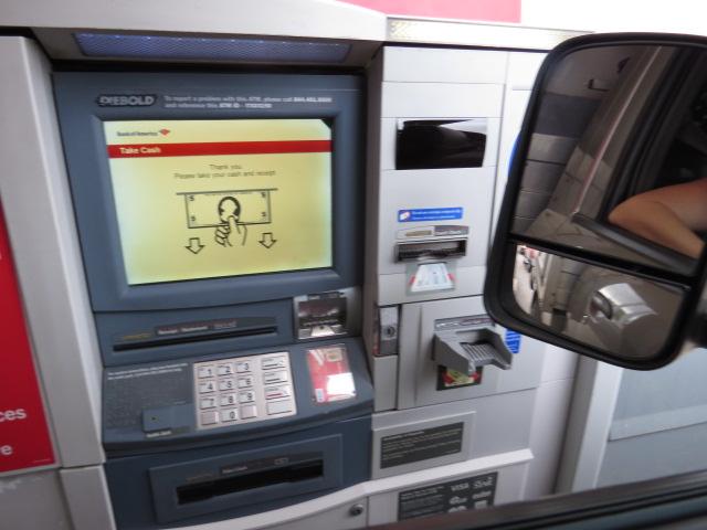 Drive thru ATM!!!