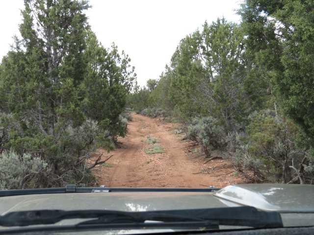 A mild section of track to Havasupai Point