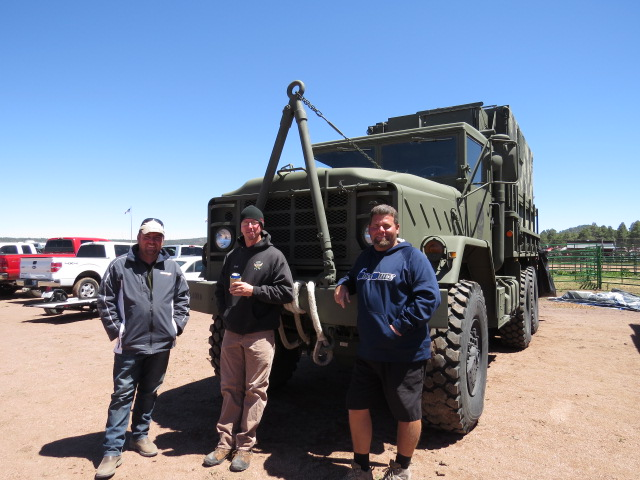 Their enormous army truck!!