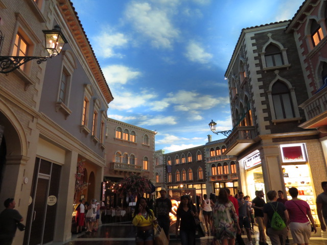 Amazing ceiling art! The Venetian