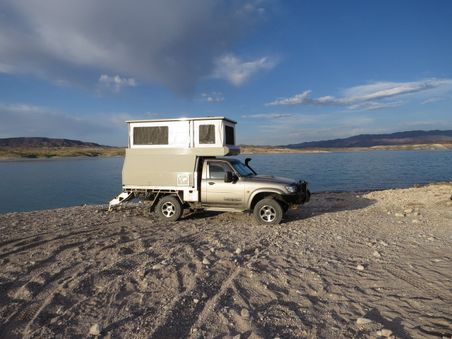 Camped on Lake Mead