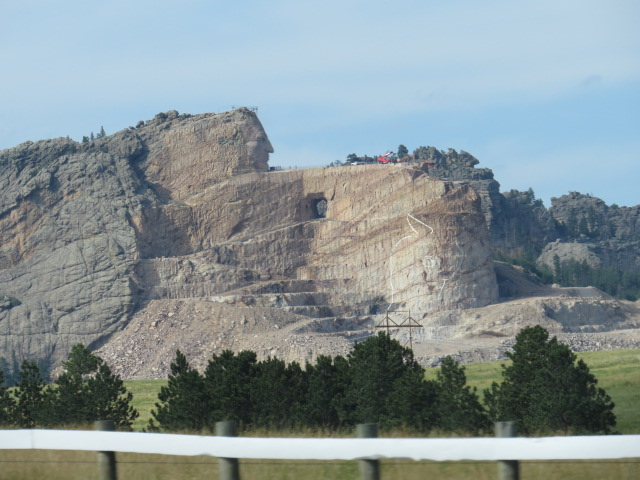 Crazy Horse Monument still under construction