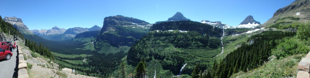 "Panorama of ""Going to The Sun Road"""