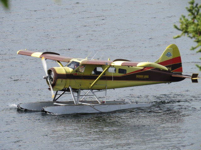 Beaver Floatplane arriving near our Finlayson Lake Camp