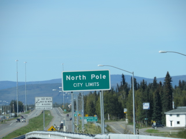 Not exactly the Geographic North Pole but as close as we'll get!