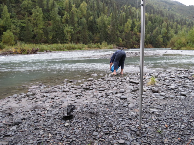 Gold panning and found some!