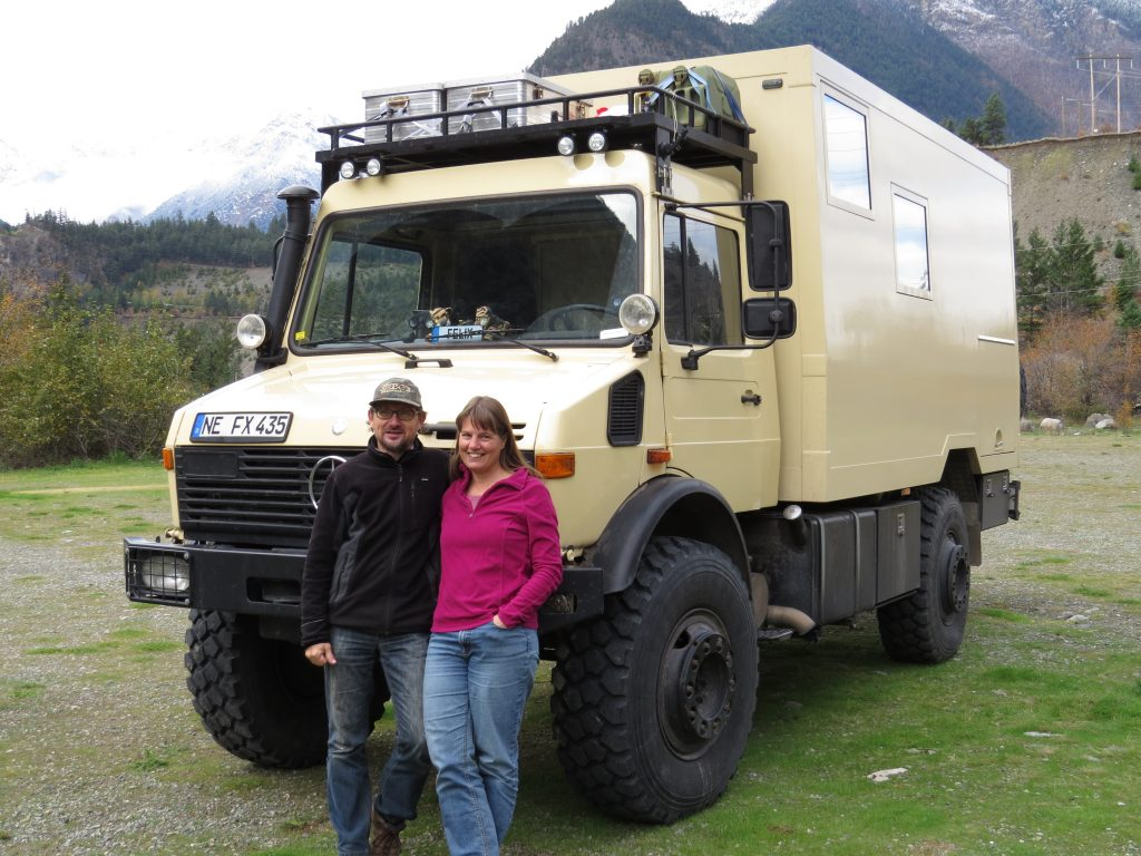 Great Unimog overland vehicle with owners Stephan and Petra
