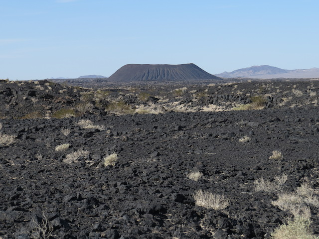 Nearby Amboy Crater and Lava Field