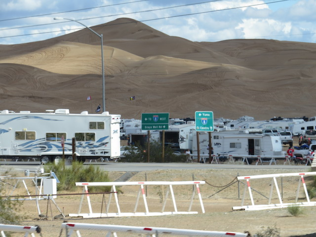 RV's flocking to the Imperial Sand Dunes