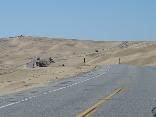 Highway through the Dunes