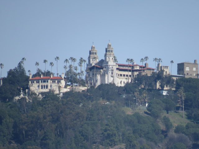 Hearst Castle in the distance