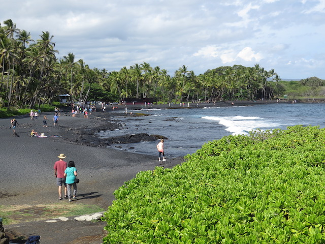 Black Sand Beach south of Hilo