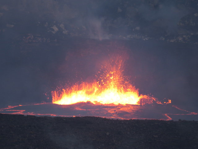 The lava lake in the Kilauea Caldera