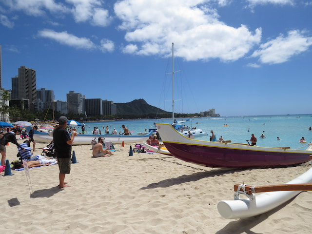 Waikiki and the famous Diamond Head