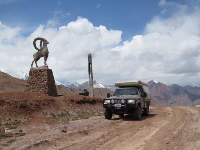 Tajikistan Kyrgyzstan Border pass 4280mtrs
