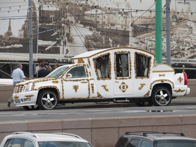 Ugly Wedding Cars in Red Square