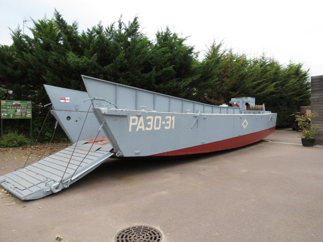 "Landing boat used in the filming of ""Saving Private Ryan"""