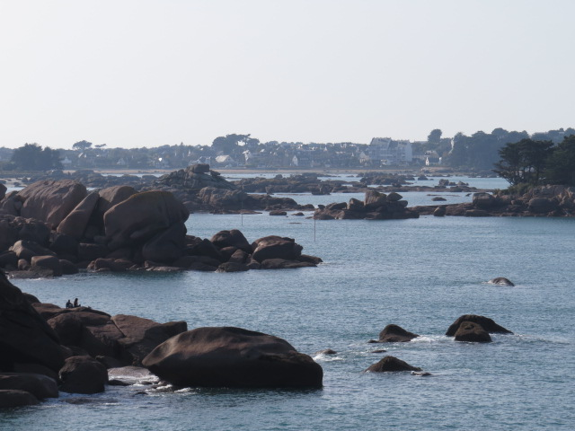 Huge granite boulders dot the coastline