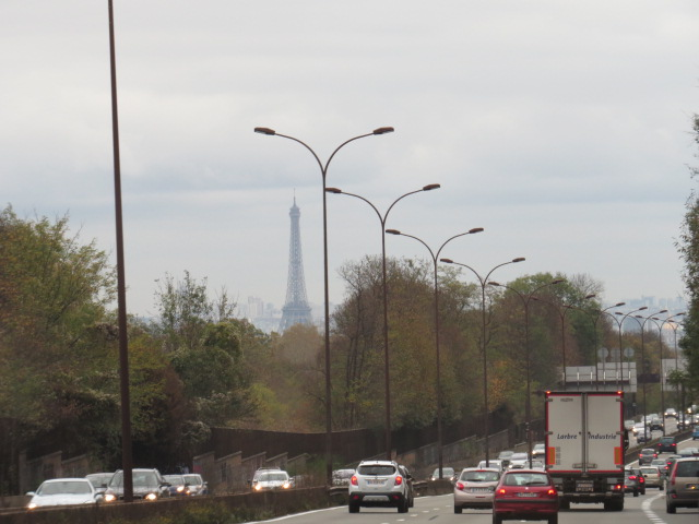 First View of Eiffel Tower