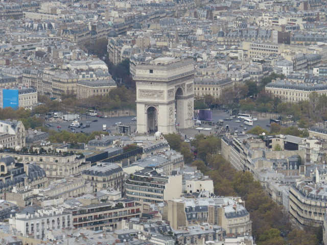 View of the Arc de Triomphe
