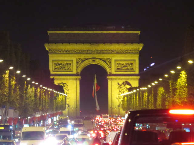 Arc de Triomphe from the Champs Elysee