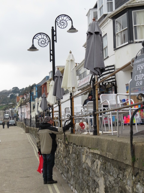 Lyme Regis with Ammonite inspired street lights