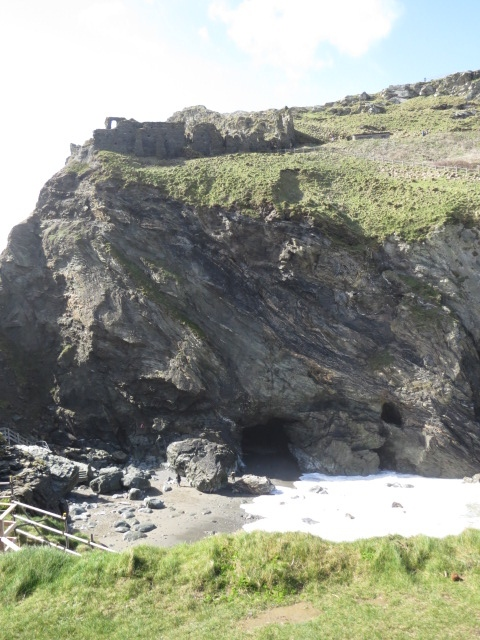 Remnants of Tintagel Castle - rumoured to be the birthplace of King Arthur