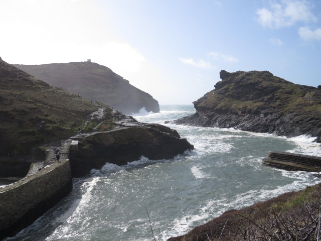 Entry to Boscastle Harbour