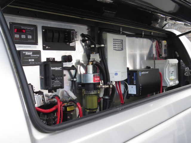 Some of the internal electric set-up