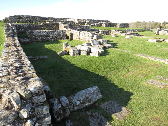 Ruins of Housteads Roman Fort at Hadrian's Wall