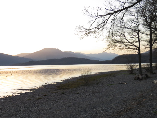 Loch Lomond from our campsite