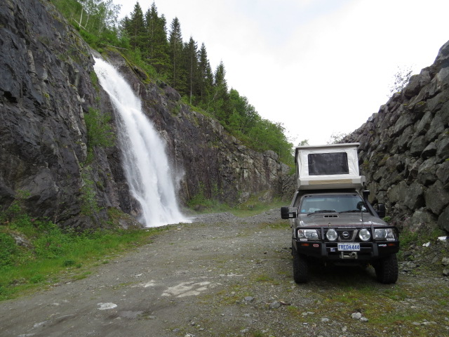 One of our free campsites - waterfall included!!!